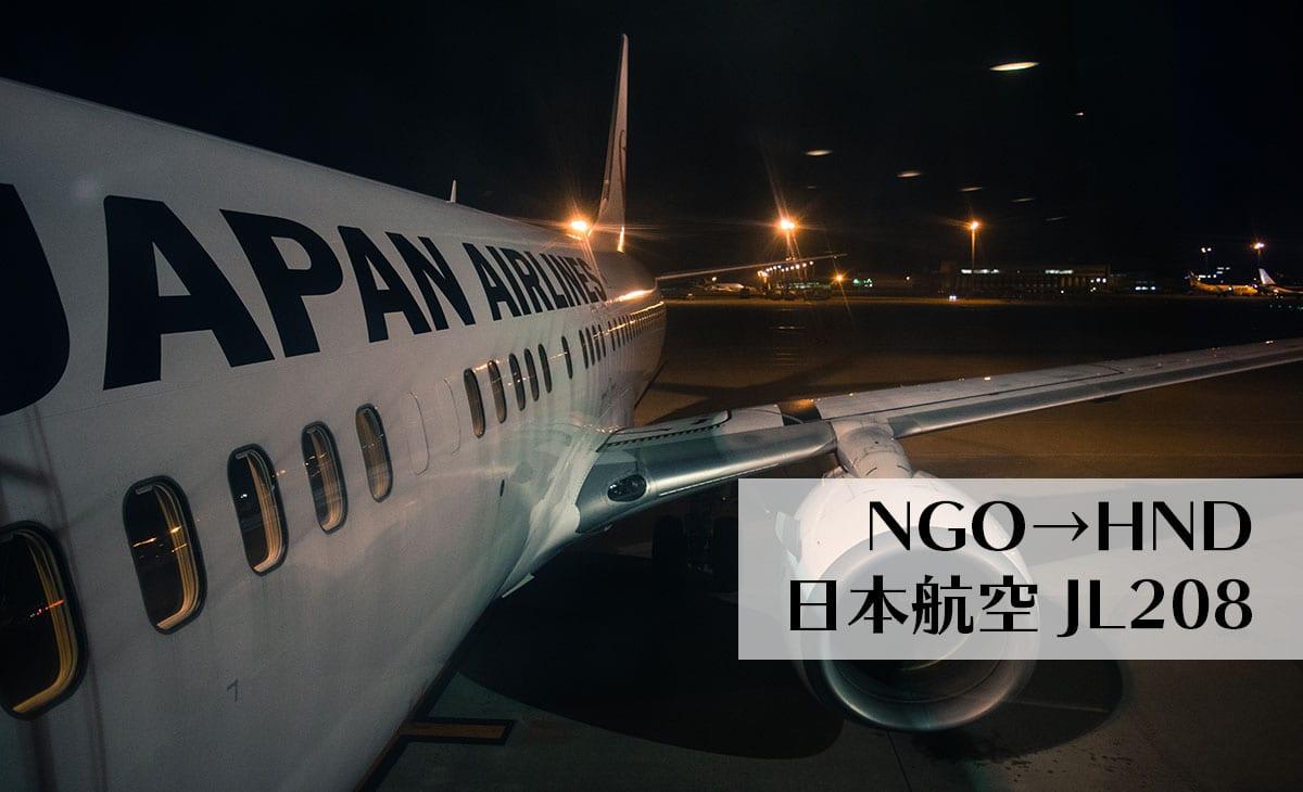JL208便に乗って、名古屋→羽田の夜景を楽しむ