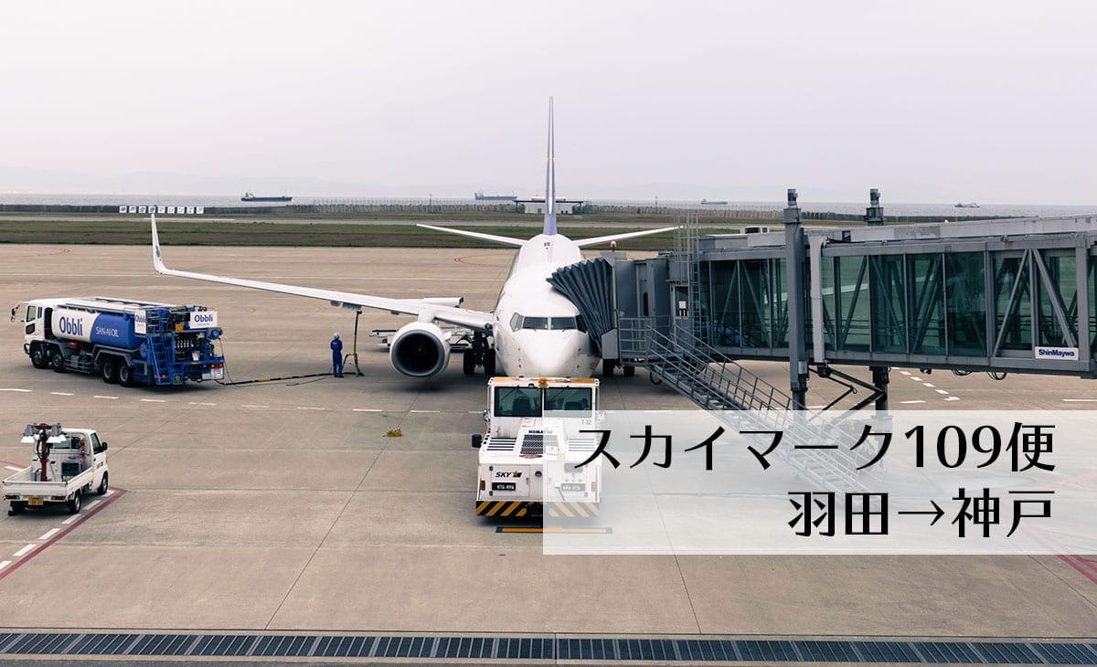 SKY109 スカイマーク109便で羽田空港から神戸空港まで