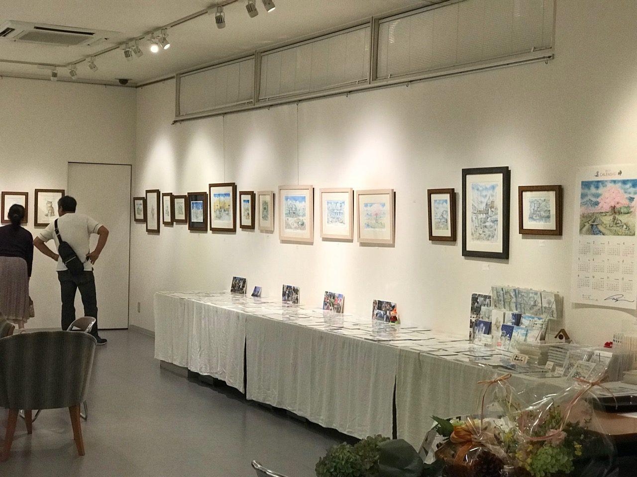 内田新哉氏(イラストレーター)の水彩原画展(ノリタケの森)を訪問
