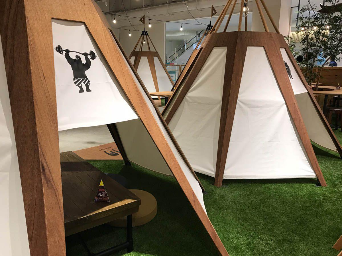EIGHT PARK CAFE(ららぽーと名古屋)のビュッフェ料理を、テント席で堪能する