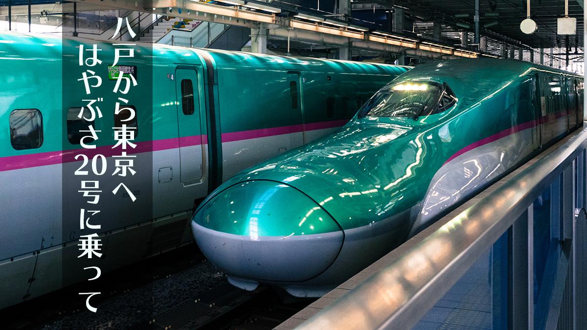八戸駅から東京へ、はやぶさ20号に乗って