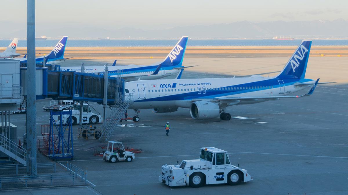 ANA86便に乗って、名古屋~羽田の短距離フライト