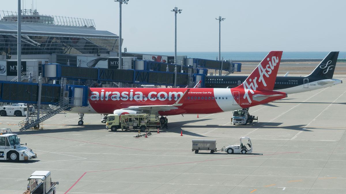 エアアジアDJ3便で名古屋セントレアから新千歳空港へ