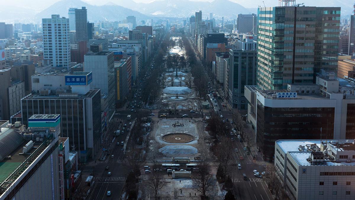 札幌で観光、テレビ塔や時計台を巡る