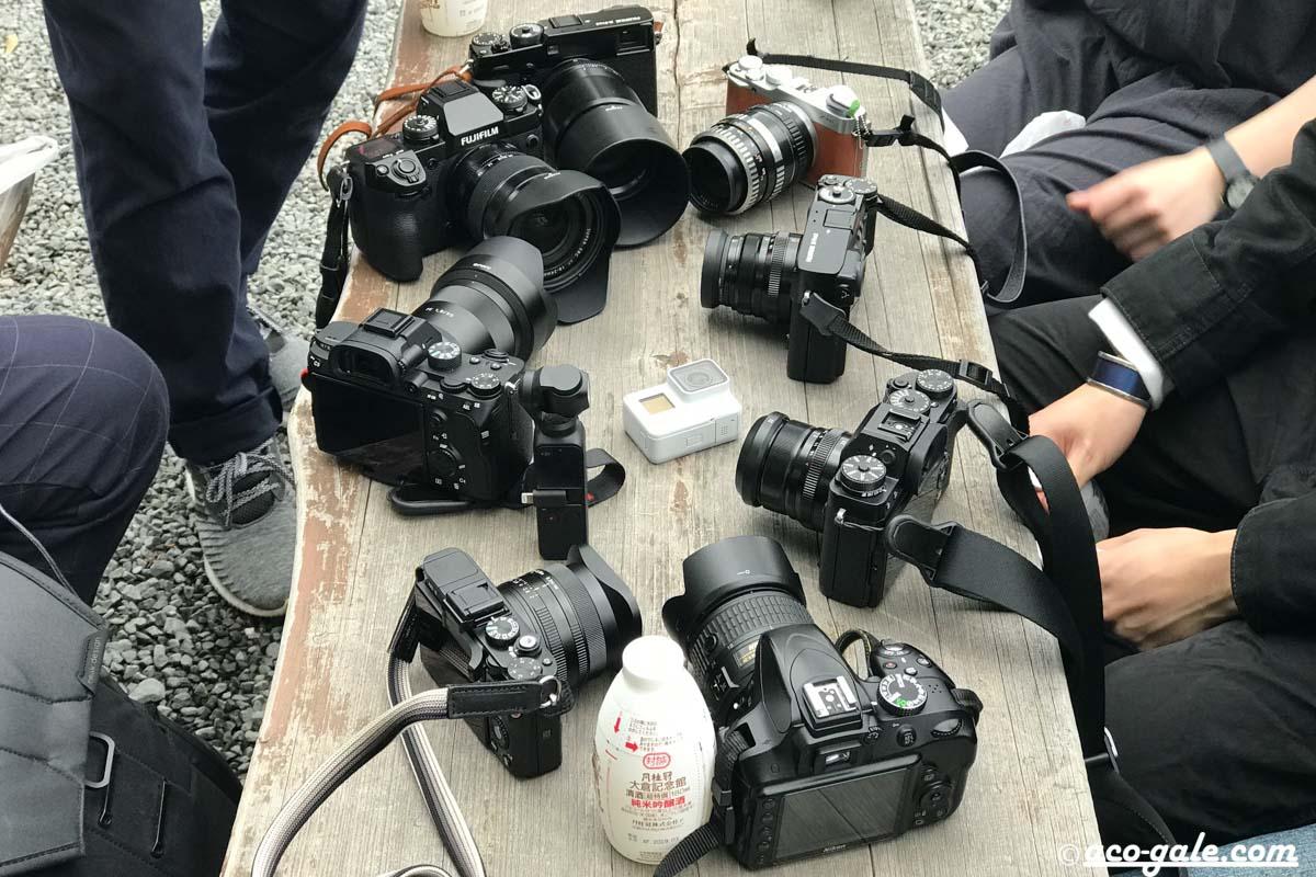 フィルムカメラ、デジタルカメラ、手を掛ける、撮って出し