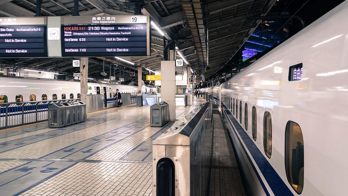 ひかり537号の自由席で東京から名古屋へ