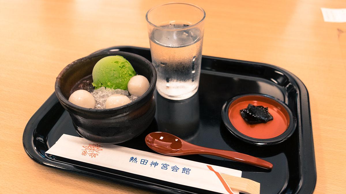 清め茶屋・熱田神宮内のお休み処で甘味を食す