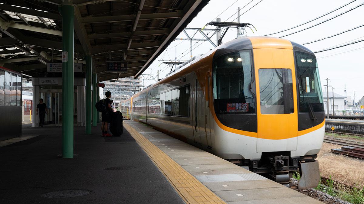 名古屋から大阪へ、津から近鉄特急に乗って