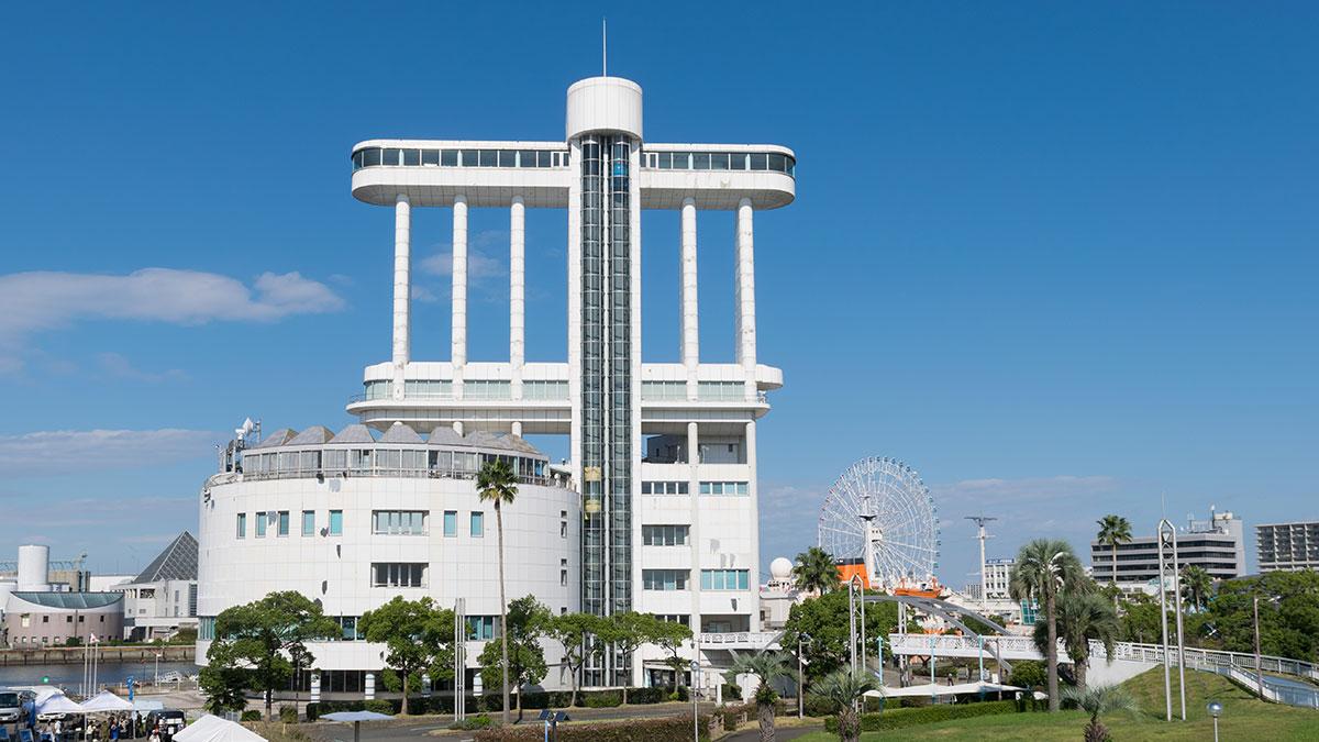 「名古屋港ポートビル」見晴らし抜群、地上53m、360度の景色