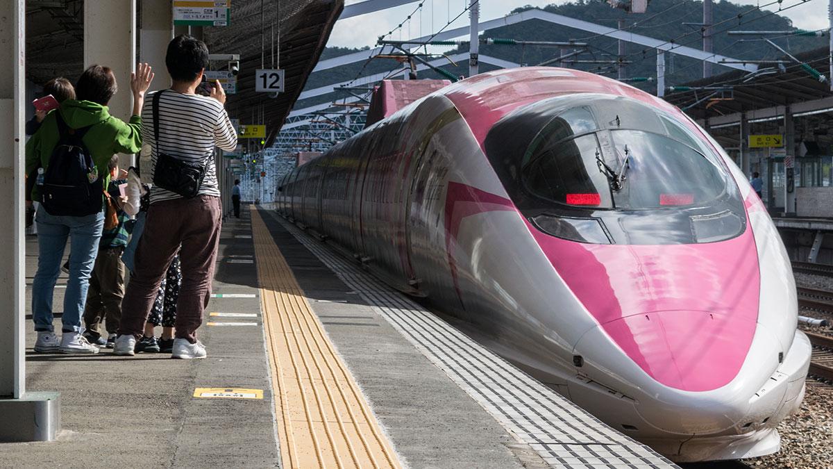 ハローキティ新幹線 こだま730号に乗って岡山から相生へ
