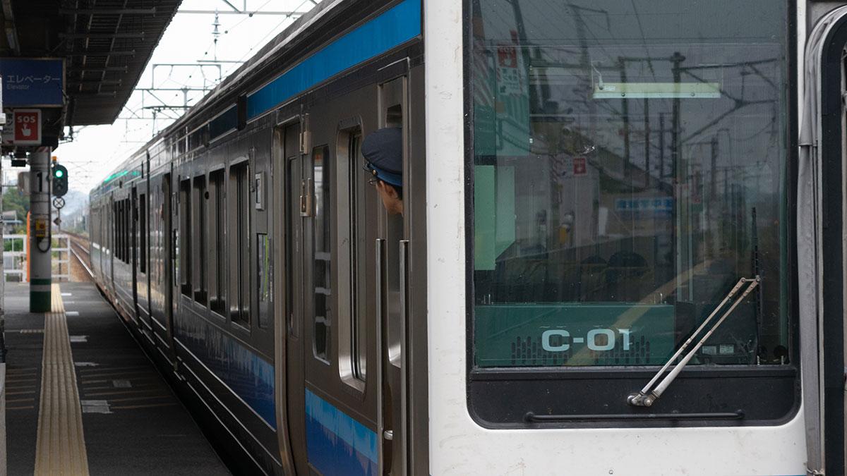 岡山の電車に乗る