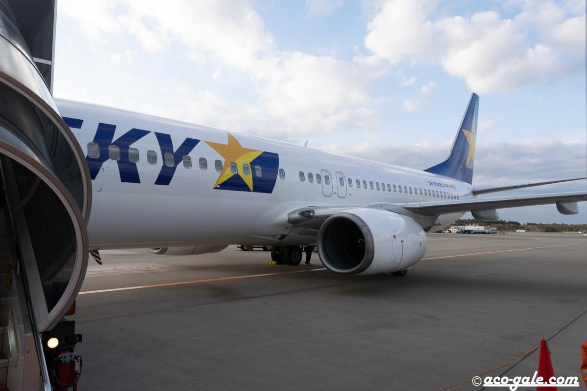 早朝のスカイマーク860便でセントレアから成田空港までのフライト